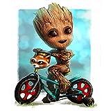 Kits de pintura de diamantes DIY 5D Groot Theme para adultos y niños,Diamond Painting taladro...