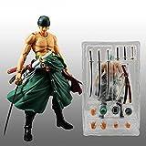 QWRT 18Cm Anime Una Pieza Articulaciones Móviles Roronoa Zoro Figura De Acción Héroes DIY Ensamblar Modelo PVC Figurita Juguete Niños Regalo Coleccionables