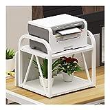 Función múltiple Doble Capa multiuso de la impresora soporte de sobremesa estante del soporte de almacenamiento de escritorio for la impresora 3D Mini Estante de almacenamiento ( Color : White-a )