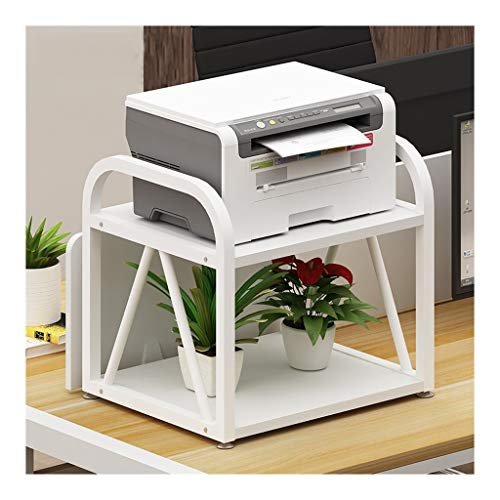 Desktop Stand for Printer Space Organizer Double Layer Multi-Purpose Printer Stand Desktop Stand Desktop Storage Rack for Mini 3D Printer Desk Printer Stand File Rack (Color : White-a)