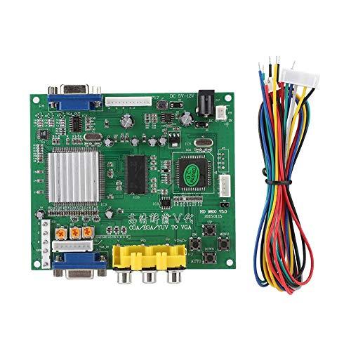 Annadue Game Console Converter Board, HD-Video-RGB/CGA/EGA/YUV-zu-VGA-Konverter, unterstützt Positionssteuerung und Zoomsteuerung, geeignet für alle VGA-Monitore.