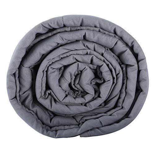 Sfeomi Gewichtsdecke Schwere Decke Anti Stress Therapiedecke Besseren Schlaf für AngststörungBeschwerte Decke Grau Weighted Blanket für Erwachsene und Kinder (121 x 182 cm / 6.8kg (15 lb))