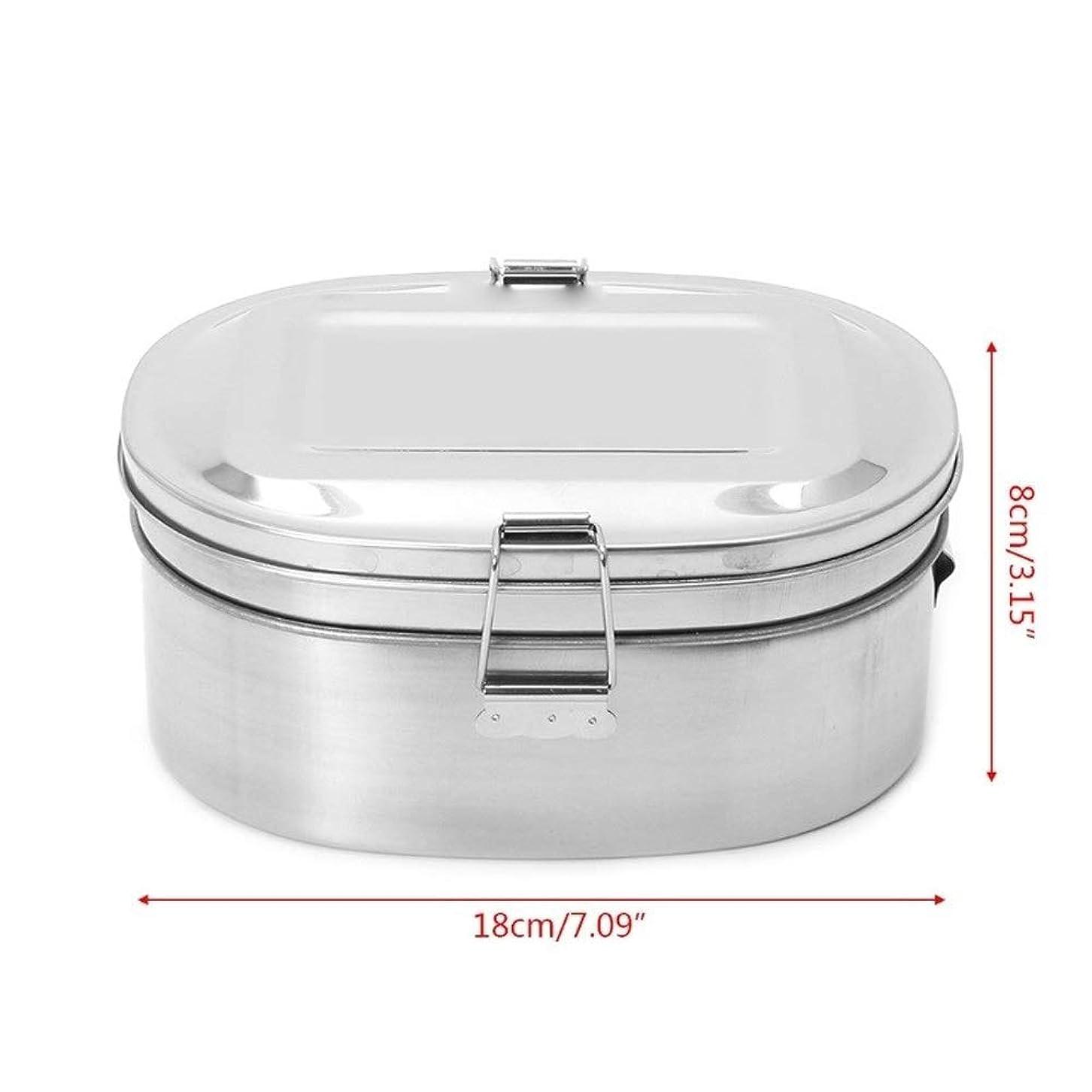 窒息させる床を掃除するバルーンJPYLY のステンレススチール製スクエアランチボックス弁当食品ピクニックコンテナトラベル1/2レイヤ (Color : 06)