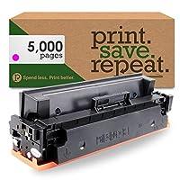 印刷。保存。繰り返します。HP cf413X ( 413x )マゼンタ高イールドリサイクルトナーカートリッジm377、m452、m477[ 5, 000ページ]
