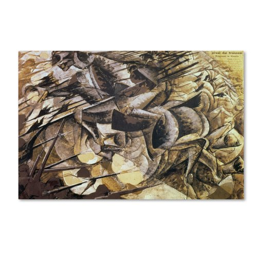 The Charge of The Lancers 1915 Artwork by Umberto Boccioni, 30 by 47-Inch Canvas Wall Art