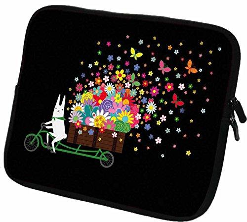 """#DoYourMobile© 7Zoll Tasche/Schutzhülle für Tablets/Tablet-PCs - wasserdichtes Neopren mit Reißverschluss in der Größe 21,3 x B 15,9cm / für Tablets mit Bildschirmgröße ca. 6,9-7,4"""" / Design : 107"""