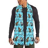 Yushang Männer Frauen Klassische warme dicke kalte Winterschal Kabel Halsbänder Hunde und Knochen Grenzen über blau