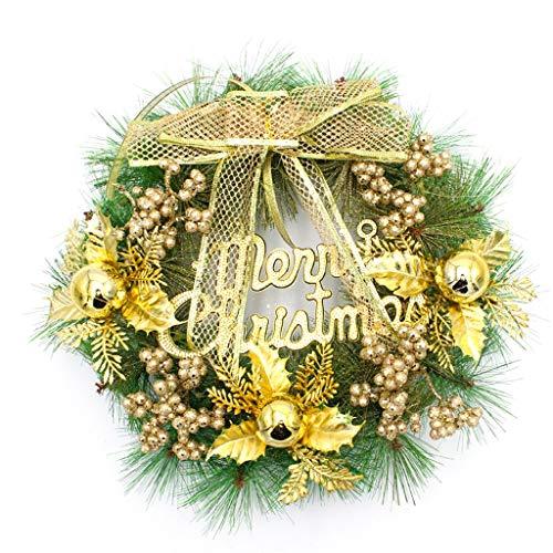 ZHongWei - Corona de Navidad Guirnalda de la Navidad, Decoraciones de Navidad, Puertas, decoración de Ventana, Ornamentos de Navidad, 2 Colores Arboles de Navidad (Color : A, Size : 30x30cm)