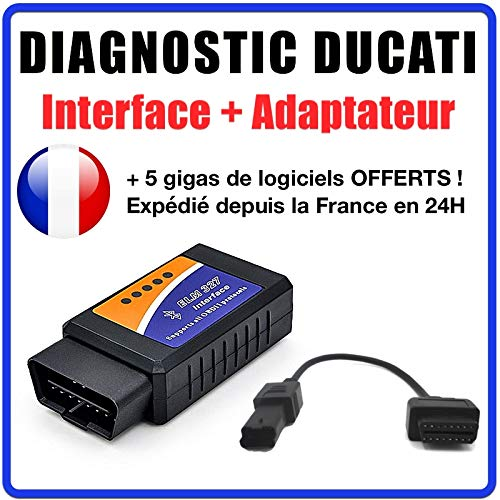 Diagnoseset Ducati + app MultiStrada Link + adapter 4-pins OBD2