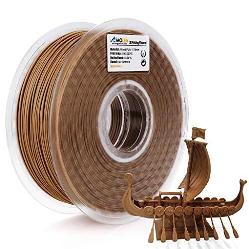 AMOLEN 3D Printer Filament,PLA Wood Filament 1.75mm