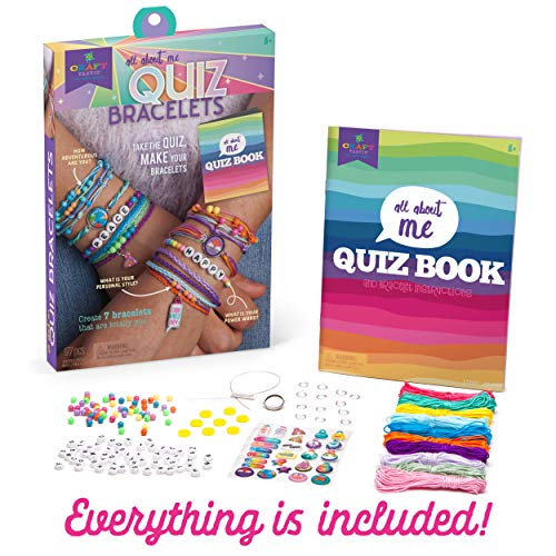 Craft-tastic – All About Me Quiz Bracelets – Craft Kit – Take Fun Personality Quizzes & Use The Answers to Create 7 Unique Bracelets
