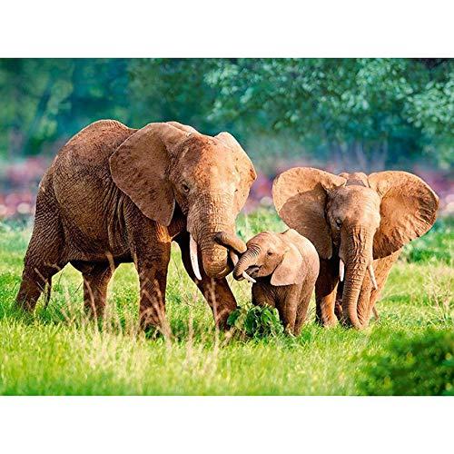 UYRT Träpussel 1000 bitar elefantträpussel för vuxna och barn, Family Game Play Collection Home Decor leksaker