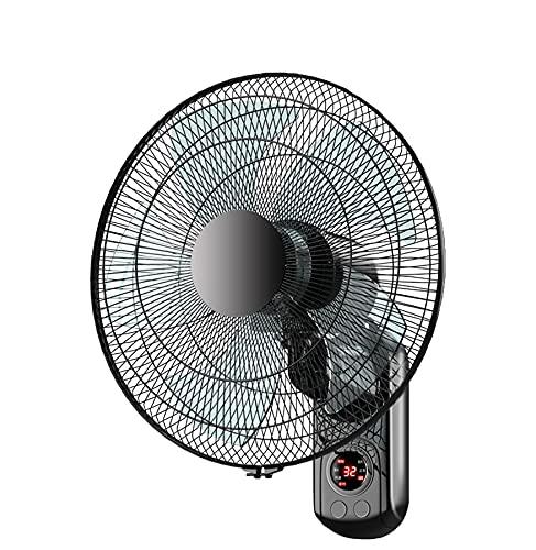 LGP Wandventilator mit Fernbedienung, Digitaler Oszillierender Wandventilator mit integriertem Timer, Indoor Outdoor, Schwarz