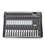 QuRRong Mesa de Mezclas 12 Canales Professional Live Studio Audio Mezclador De Audio USB Consola Mezcling para Transmisión en Vivo (Color : Black, Size : One Size)