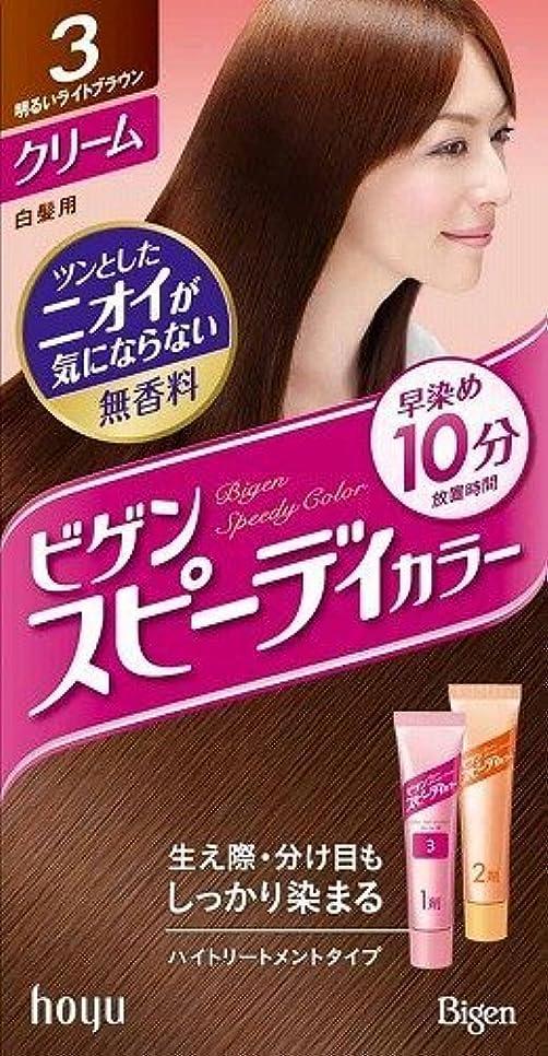 振る舞い蛇行歴史ホーユー ビゲン スピィーディーカラー クリーム 3 (明るいライトブラウン) 40g+40g ×6個