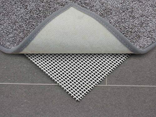 Primaflor - Ideen in Textil Antirutschmatte Teppichunterlage Gitter Grau - 80 x 200 cm Zuschneidbar, Fußbodenheizung Geeignet, Waschbar, Teppichstopper, Teppichgleitschutz Anti-Rutsch-Unterlage