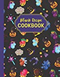 Blank Recipe Cookbook: Large Kitchen Size Personalize Cooking Journal to Write in 120 Halloween Recipes | Spooky and Creepy Gifts for Grandma from ... Unicorn Broom Pumpkin Witch Hat Pattern Cover