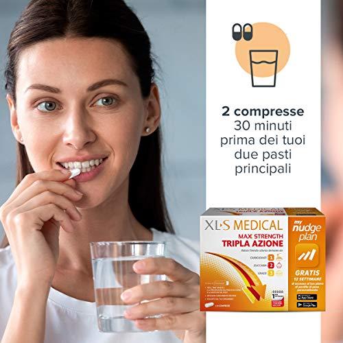 XL-S MEDICAL Max Strength Trattamento Dimagrante Forte, Pastiglie Dietetiche per una Gestione Ottimale del Peso, 120 Compresse