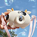 LUCKTYカメラ型シャボン玉電動式シャボン バブルマシーン シャボン玉 バブルマシン子供 おもちゃ 泡製造機シャボン玉製造機 しゃぼん玉かわいいバブルマシン シャボン小型持ち運び便利 誕生日 パーティー 外遊び プール アウトドア (ホワイト#B)