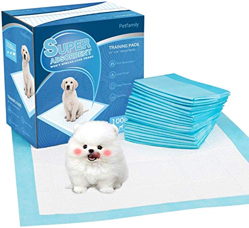 petphabet Absorbent Puppy Pads 100 pack Pet dog Training Pads small Dog Multilayer 100 counts (22 * 22 Inches)