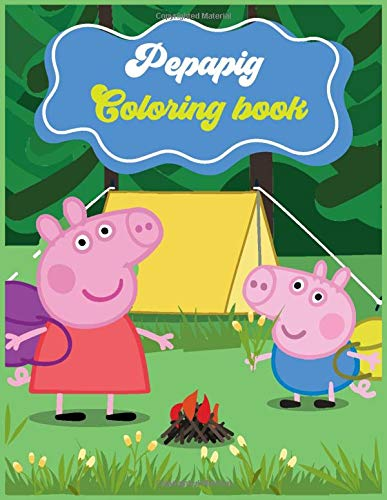 Pepa Pig Coloring Book: Coloring book Help children stimulate imagination, creativity with colors (for children aged 2-6 years) , SBD 38