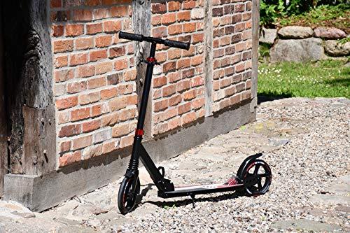 Outzone Flitzdings Big Wheel Scooter/Tretroller mit hohem Fahrkomfort, zusammenklappbar/rot