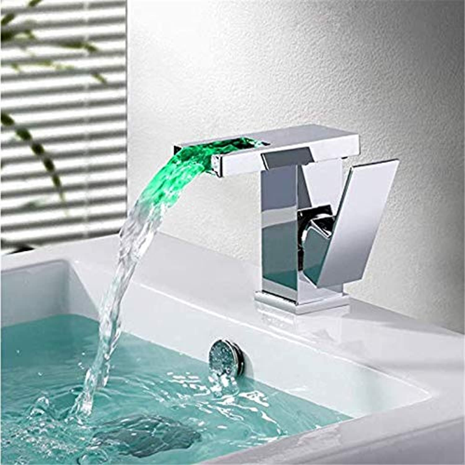 LED hydroelectric Faucet for Bathroom Faucet Chrome Faucet Mixing Faucet for Bathroom Sink