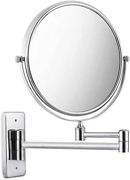 Najer Bathroom Mirror 3X 1X Magnification Double Sided 8 Inch Wall Mounted Vanity Magnifying Mirror 360 Swivel Extendable And Chrome Finished