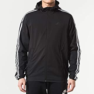 adidas 阿迪达斯男装上衣 春季 运动休闲防风健身训练时尚连帽夹克外套