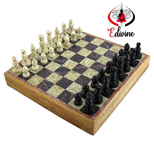 Stylla London vs1389Marmor Stein Classic Schachbrett, 30x 30cm