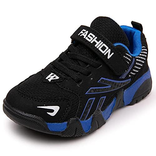 GUOCHENXY Zapatos para Niños Zapatos Deportivos para Niños al Aire Libre Zapatos de Baloncesto Zapatos para Correr Ligeros Azul 28EU