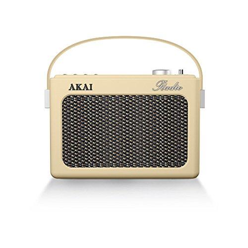Radio Vintage AKAI R150BT-CM Crema, Bluetooth, USB, AUX IN, SD