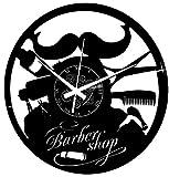 Instant Karma Clocks Reloj de Pared Vinilo para Barbería Peluquería Cabello Salón de Belleza Accesorios para el Pelo Barba, Negro