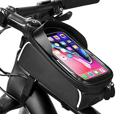 HongTeng-Bolsa de Bicicleta Bolsa de equitación Deportiva al Aire Libre, Bolsa de Montar de Bicicleta para vehículos Todoterreno (Capacidad 2L Negro)