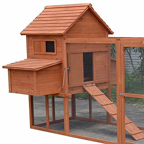 Hühnerstall / Hühnerhaus mit Freigehege aus Holz ca. 310 x 150 x 150 cm - 6