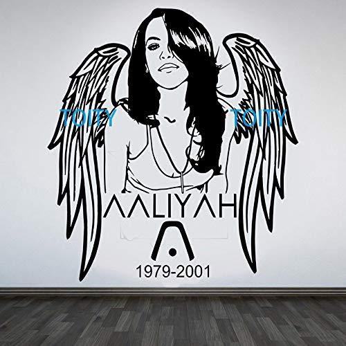 Blues-Sängerin Black Jade Girl Aaliyah Aufkleber tödliche Romeo mit Aria Aufkleber RB Musik