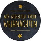 AVERY Zweckform 200 Etiketten Frohe Weihnachten (Geschenk Sticker selbstklebend auf Rolle, Ø38 mm, im Spender, zuverlässig haftend, rund) 3846