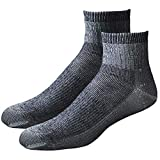 ECHOGORGE Mid-Weight Merino Wool Quarter Socks, 2 Pair. Made in USA