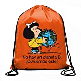 Bolsa de cuerdas Mafalda Â¡No hay un planeta B! (BOLSAS)