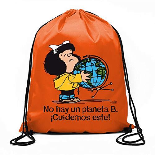 Bolsa de cuerdas Mafalda ¡No hay un planeta B! (BOLSAS)