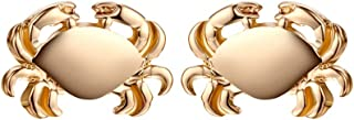MIXIA Tiny Crab Earrings for Women Jewelry Cancer Zodiac Animal Charm Jewelry Ocean Inspired Vintage Gold Earrings Gift