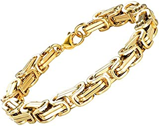 Stainless Steel Gold Bracelet Cuban Links Chain Bracelets Fashion Men's Jewelry