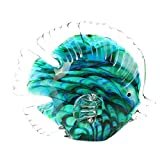 ABCBCA Ángel Tropical Pescado Arte Vidrio soplado Hecho a Mano mar Animal estatuilla Escultura decoración casero Estatua Coleccionable Papel Regalo de Peso (Color : Green)