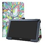 LFDZ Archos 116 Neon Coque, Slim Fit Housse Support Ultra-Mince et Léger Etui Cover pour 11.6' Archos 116 Neon Tablet,Love Tree