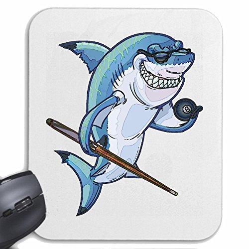 Mousepad Alfombrilla de ratón TIBURÓN EN Blanco Piscina de Juegos Hai Megalodon tiburón Azul Hammerhai Punta Negra whalesharks tiburón mako para su portátil, Ordenador portátil o PC de Interne