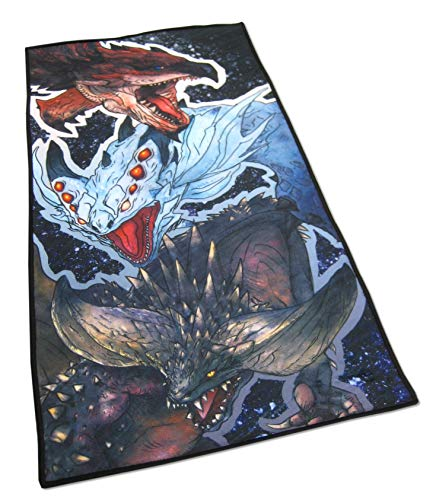 Monster Hunter World - Badehandtuch - Rathalos, Xenojiva & Nergikante