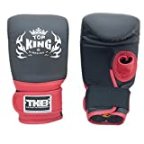 Top King Bag Mitts Air Open Thumb Gloves TKBMA1-OT (Black/Black/Red,Large)