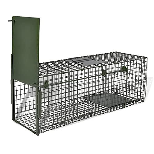 vidaXL Trappola per Animali Vivi 1 Porta Gabbia di Protezione Animali Piccoli