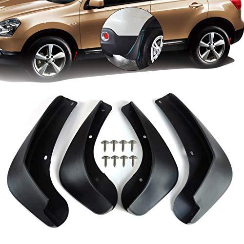 Preisvergleich Produktbild L&U 4 Stücke Set Vorne und Hinten Schmutzfänger Spritzschutz Klappe Für Nissan Qashqai und +2 2007-2013 (J10,  JJ10)
