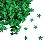 Oblique Unique® Stern Konfetti Grün Über 500 STK. Streu Deko Tischdeko für Weihnachten Geburtstag Fasching Karneval Party